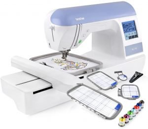 "Brother Embroidery Machine, PE770, 5"" x 7"" Embroidery Machine with Built-in Memory"
